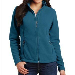 NWOT Teal Blue Value Fleece Jacket size Medium